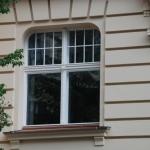 okno skrzynkowe w kształcie łuku