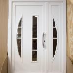 Drzwi dębowe zewnętrzne białe